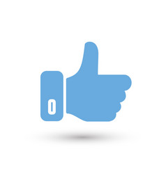 social media thumb up color icon white background vector image