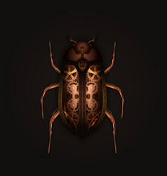 Steampunk style mechanical beetle vector