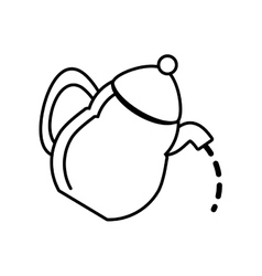 Tea pot kettle coffee outline vector