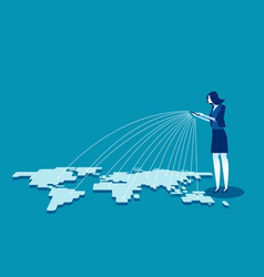 Telecommunication global connection vector
