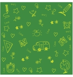 Theme school doodle art vector