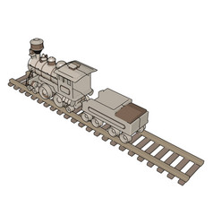 toy train on white background vector image