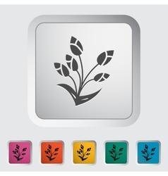 Tulip single flat icon vector image