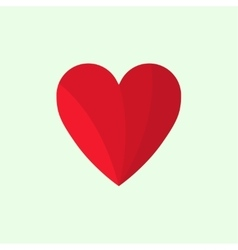Two halves of red heart vector image