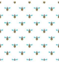 Wasp pattern cartoon style vector image