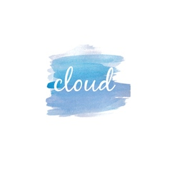 watercolor stain with text cloud vector image