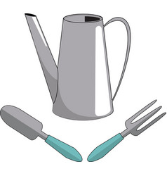 Watering can shovel fork vector