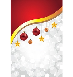 white christmas background decorations golden vector image