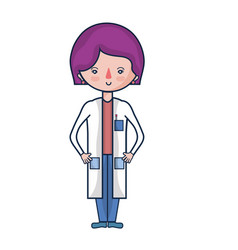 Woman doctor with medical uniform vector