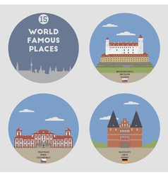 World famous place vector