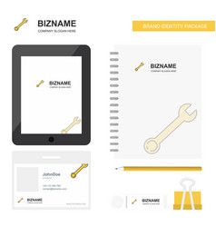 Wrench business logo tab app diary pvc employee vector