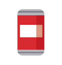 can of soda beverage cold refreshment vector image