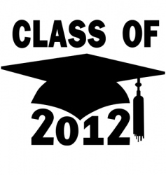 college high school graduation vector image vector image