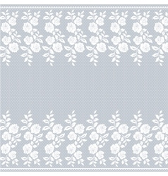 Lace border on gray vector image vector image