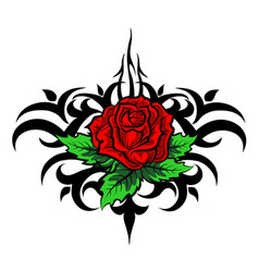 rose pattern tattoo vector image