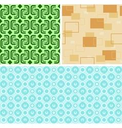 Seamless Retro Patterns vector image