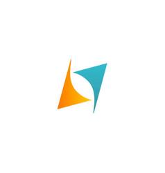 shape arrow circle balance logo vector image