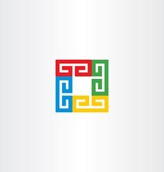 square colorful business logo icon vector image