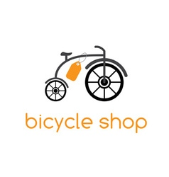 bicycle shop design template vector image
