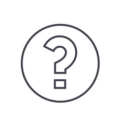 question line icon sign on vector image vector image