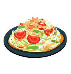 spicy popular papaya thai salad vector image vector image
