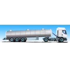 tanker semitrailer truck vector image vector image