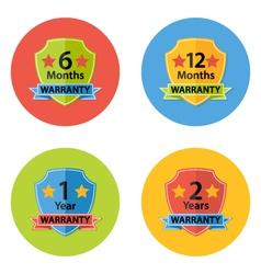 Warranty Flat Circle Icons Set 3 vector image