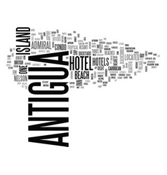 Antigua history text word cloud concept vector