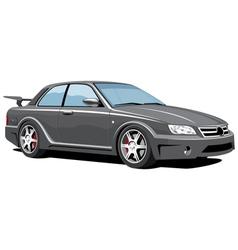 black sports car vector image