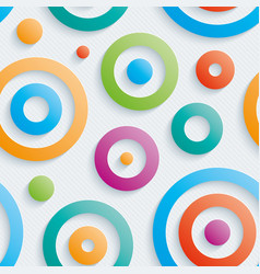 colorful circles walpaper vector image