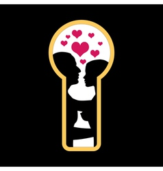 love in the keyhole vector image vector image