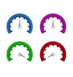 set of speedometer symbols design vector image vector image