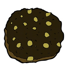 chocolate chip cookie comic cartoon vector image