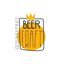 Craft Beer Square Frame Logo Design Template vector image vector image