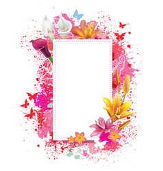 greeting card with spray grunge background vector image vector image