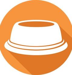 Pet Food Bowl Icon vector image vector image