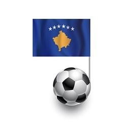 Soccer Balls or Footballs with flag of Kosovo vector image