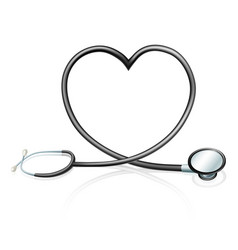 stethoscope heart concept vector image