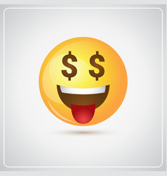 yellow smiling cartoon face people emotion show vector image vector image