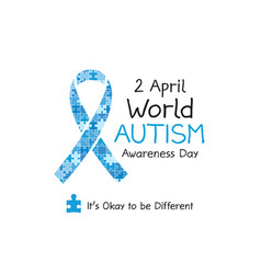2 april world autism awareness day banner symbol vector