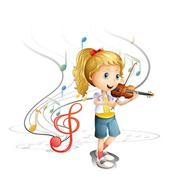 A young musician vector image