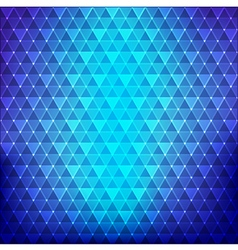 Abstract background blue continuous triangle vector