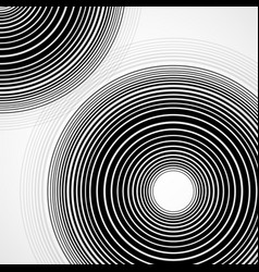 abstract background of circles with lines vector image