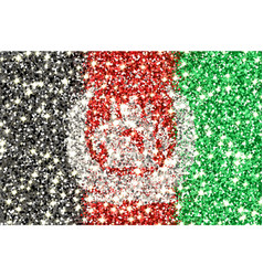 afghanistan sparkling flag vector image