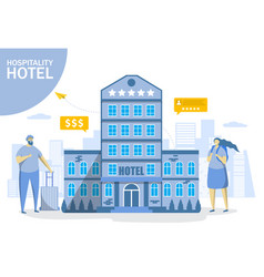 All inclusive hotel flat style design vector
