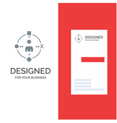 Ambient user technology experience grey logo vector