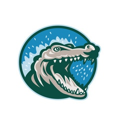 Angry crocodile or gator head snapping vector