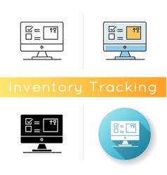 Automated tracking system icon inventory vector