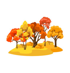 autumn background with landscape and stylized vector image