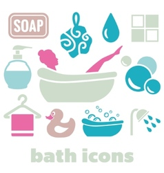 Bath icons vector